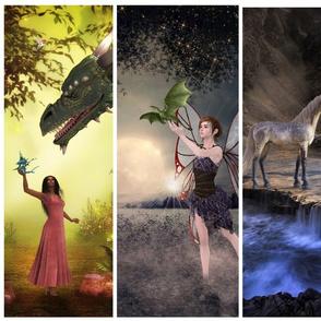 Mythical animal pad panels
