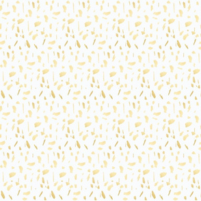 Gold dots on white small paint daubs blobs