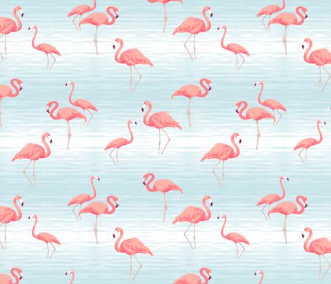 Flamingo Bob fabric by bluedesignhouse on Spoonflower - custom fabric