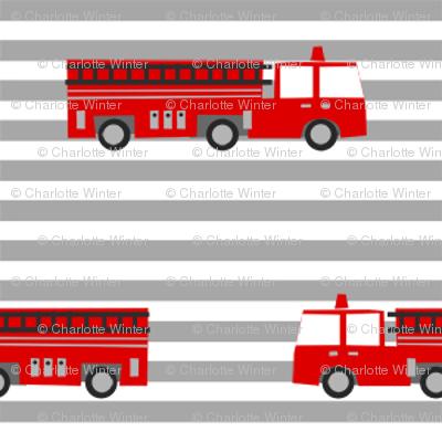 firetruck careers kids service fireman stripes grey
