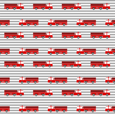 firetruck careers kids service fireman stripes grey fabric by charlottewinter on Spoonflower - custom fabric