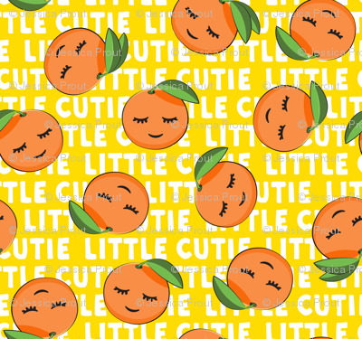 Little Cutie - Happy Oranges - summer fabric (yellow)
