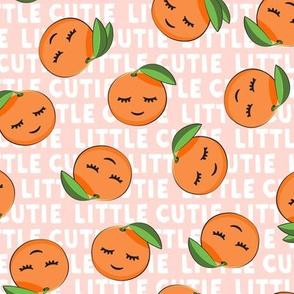 Little Cutie - Happy Oranges - summer fabric (pink)