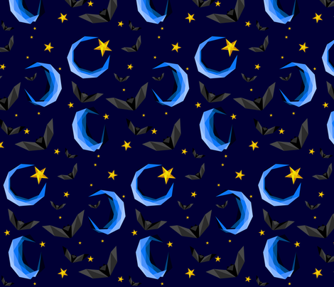 Bats in the night sky fabric by candytrickster on Spoonflower - custom fabric