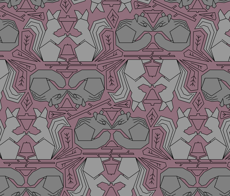 Forest Animals Gray fabric by amy_maccready on Spoonflower - custom fabric