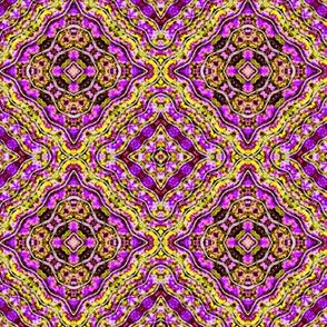 Purple Paisley Diamonds