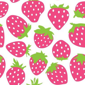 large hot pink strawberries