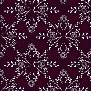 Happy Holly-Days Damask