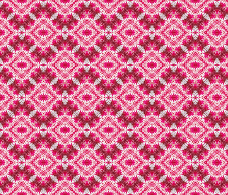 Icy Padded Pink Diamonds fabric by just_meewowy_design on Spoonflower - custom fabric