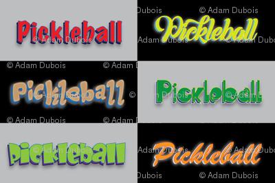 Pickleball Checker Multi-Font
