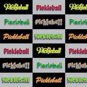 Pickleball Checker Multi-Font