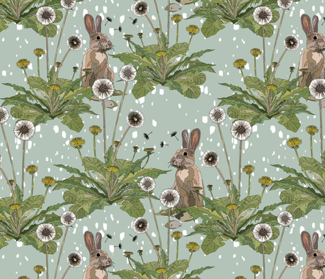 Dandeilion Daydream fabric by here_comes_kelly on Spoonflower - custom fabric