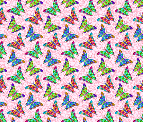 Watercolor Butterflies fabric by just_meewowy_design on Spoonflower - custom fabric