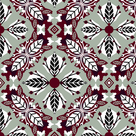 Berry Elegance fabric by franbail on Spoonflower - custom fabric
