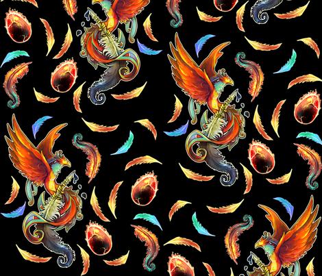 PHOENIX collaboration fabric by de_zigns on Spoonflower - custom fabric