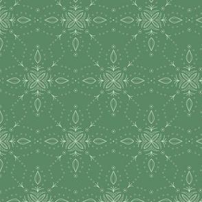 Snowflake in Green Tea Green