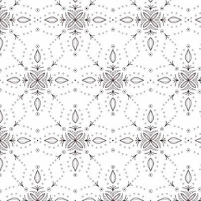 Snowflake in Classic White