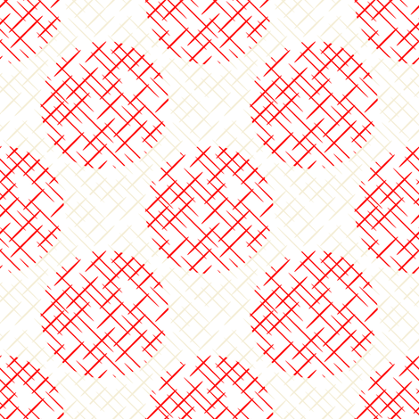 cross hatch circles  fabric by studioxtine on Spoonflower - custom fabric