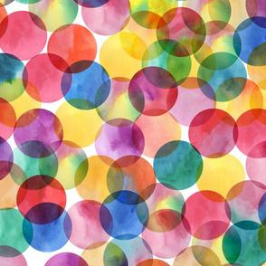 Watercolor Confetti Dots