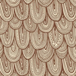 Doodle Scales - Sepia
