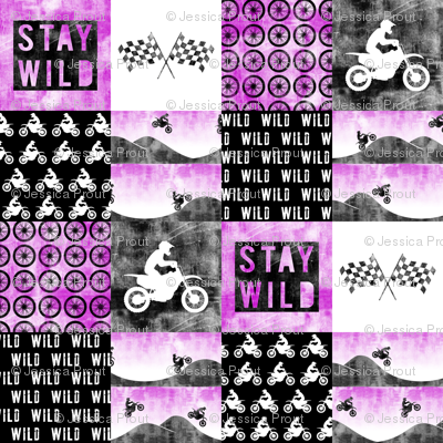 Motocross Patchwork - Stay Wild - Purple