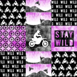 Motocross Patchwork - Stay Wild - Purple