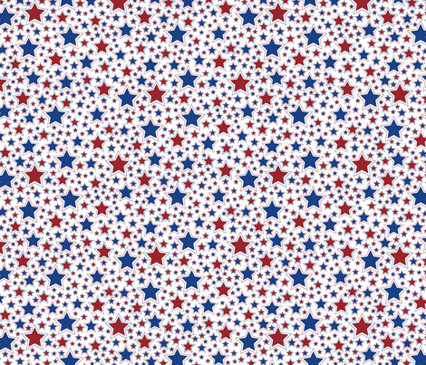 Stars Americana fabric by jjtrends on Spoonflower - custom fabric