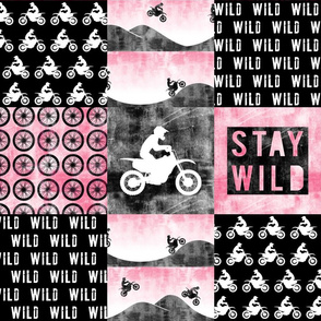 Motocross Patchwork - Stay Wild - Pink