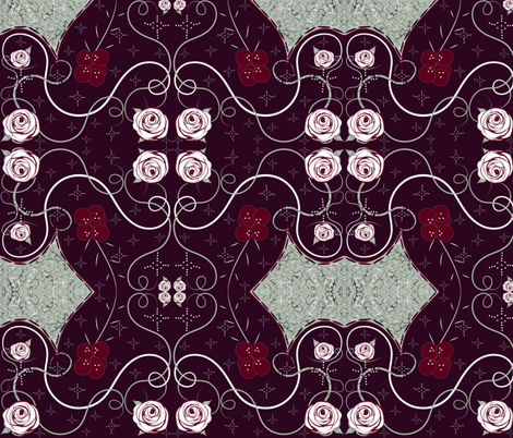Elegant Holiday Rose & Berry fabric by gracelillydesigns on Spoonflower - custom fabric
