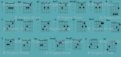 guitar chords teal