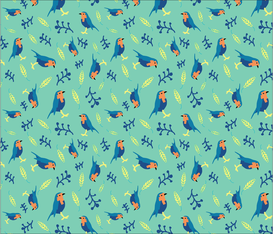 Birds fabric by gooloopi on Spoonflower - custom fabric