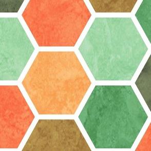 Geometric Beehive Pattern - Pastel