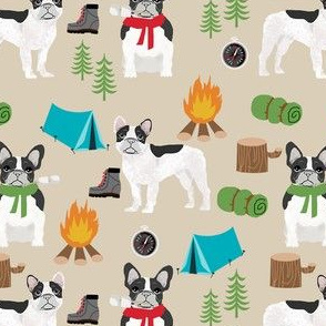 french bulldog camping outdoors nature dog breed fabric tan