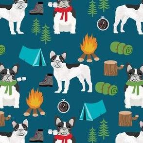 french bulldog camping outdoors nature dog breed fabric navy