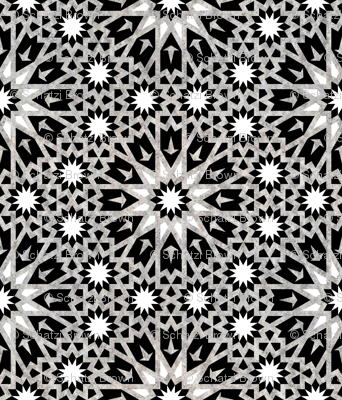 Tangier Tile Black & White {LARGE}