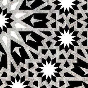 Tangier Tile Black & White {LARGE}