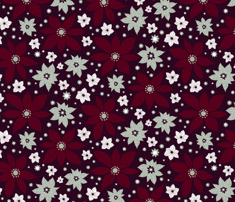 pionsettia flowers fabric by gnoppoletta on Spoonflower - custom fabric