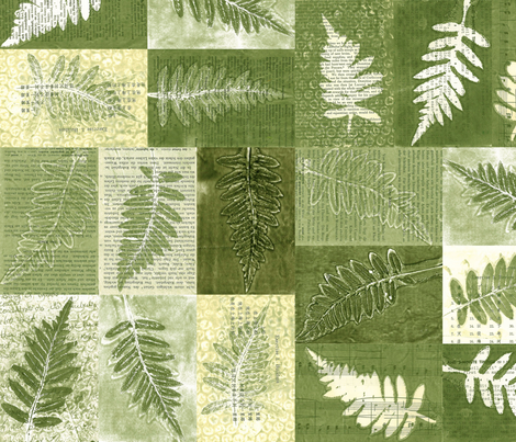 Green- Fern fabric by lisathorpe on Spoonflower - custom fabric