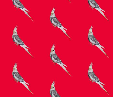 Arwen side view red fabric by laurelarockefellerbooks on Spoonflower - custom fabric