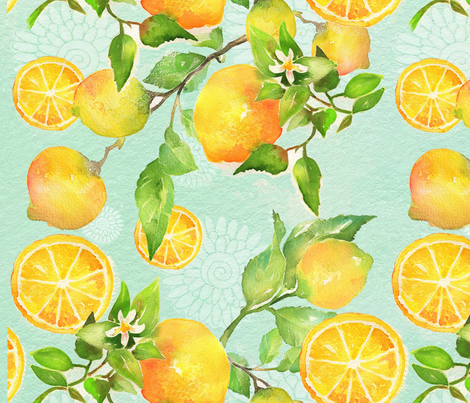 make lemonade! fabric by ronnierooney on Spoonflower - custom fabric