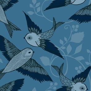 Light Sea Blue Birds