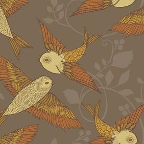 Golden Grey Birds