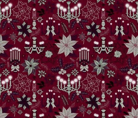 Illuminated Holiday  fabric by irishvikingdesigns on Spoonflower - custom fabric