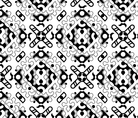 set 02/0005 fabric by contrast on Spoonflower - custom fabric