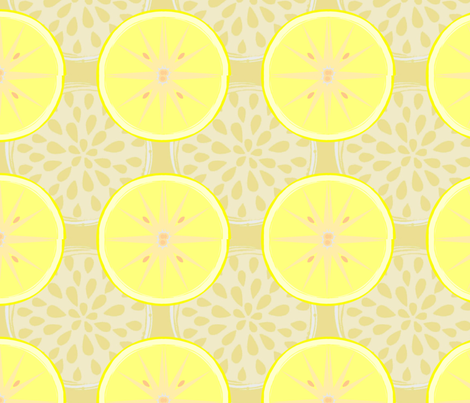 Luv'n Lemons fabric by kae50 on Spoonflower - custom fabric