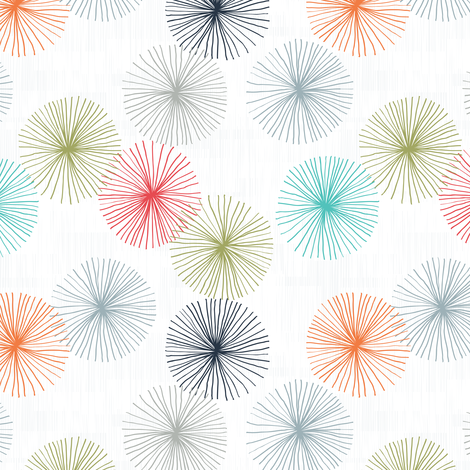 Small Dandelions Confetti M+M by Friztin fabric by friztin on Spoonflower - custom fabric
