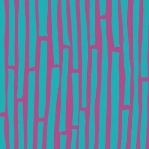 Dancing Lines - Blue and Pink