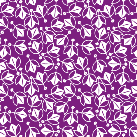 Young Buds on Violet fabric by siya on Spoonflower - custom fabric