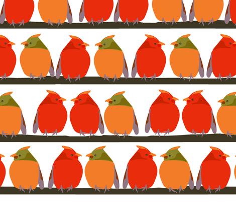 Cardinal Talk fabric by marti_betz_design on Spoonflower - custom fabric
