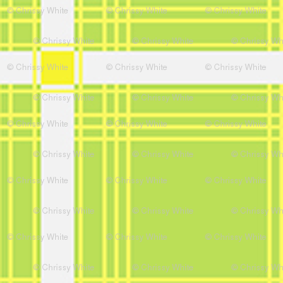 Plaid - Green, Yellow, and White